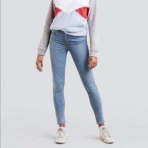 Levi's high-waisted skinny jeans